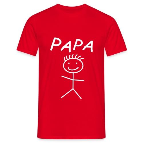 PAPA Shirt red - Männer T-Shirt