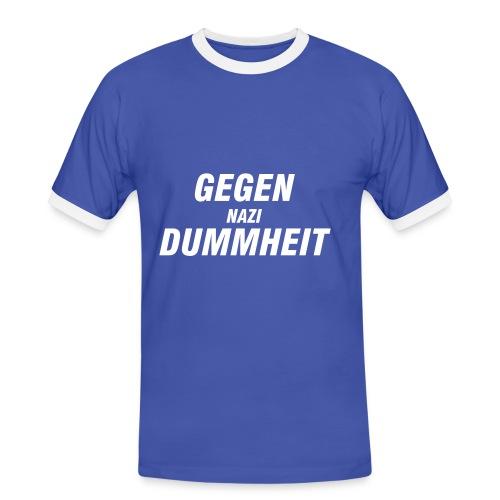 ;o) - Männer Kontrast-T-Shirt