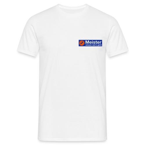 Meister T-Shirt mit eigenem Text auf der Rückseite. - Männer T-Shirt