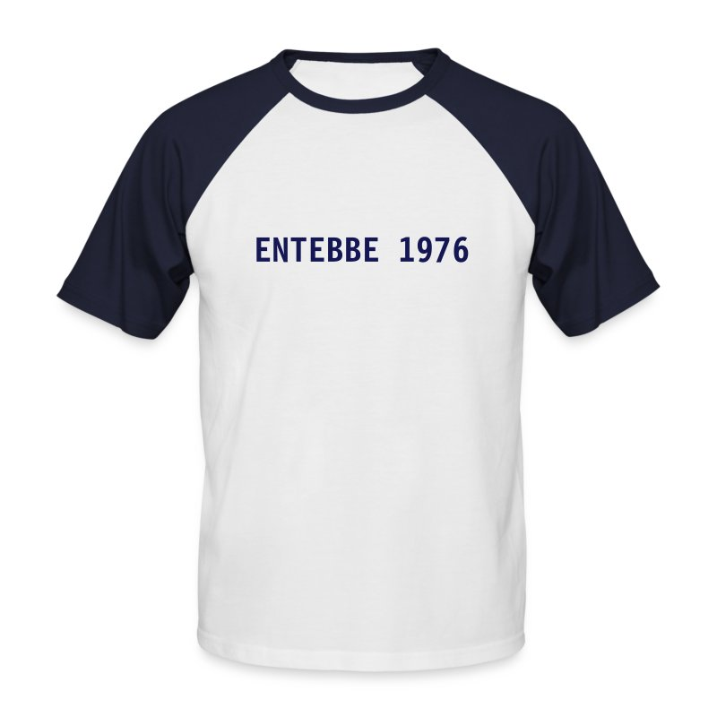 T-Shirt Bicolor Entebbe 1976 - Männer Baseball-T-Shirt