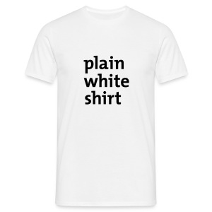 'Plain White Shirt' Comfort T (White)  - Men's T-Shirt
