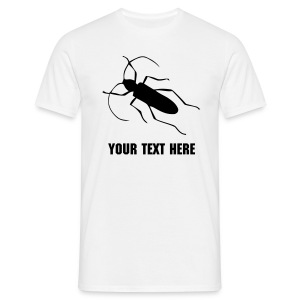 Insect with changeable text - Men's T-Shirt