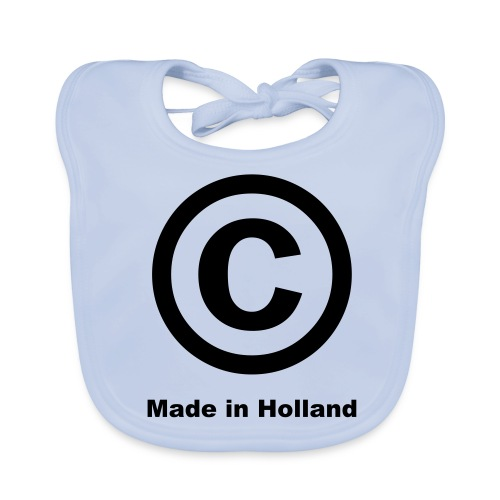 'C Made In Holland' Baby Bib (Sky Blue)  - Baby Organic Bib