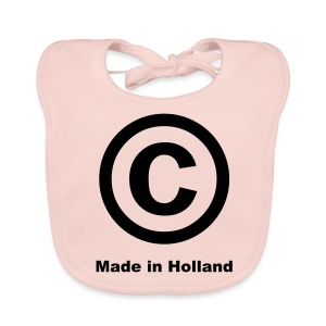 'C Made In Holland' Baby Bib (Rose)  - Baby Organic Bib