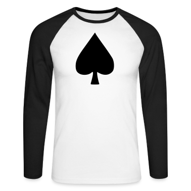 White/black Pik Poker Men's Longsleeves