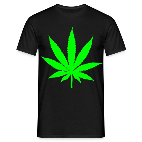 Ganja Leaf - Men's T-Shirt