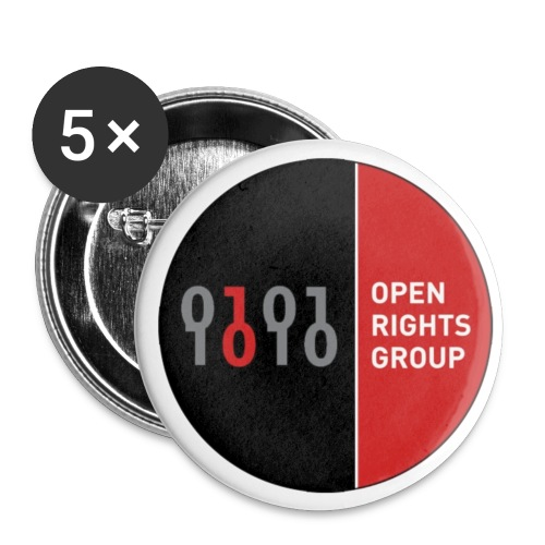 ORG logo pin badge - Buttons small 1''/25 mm (5-pack)