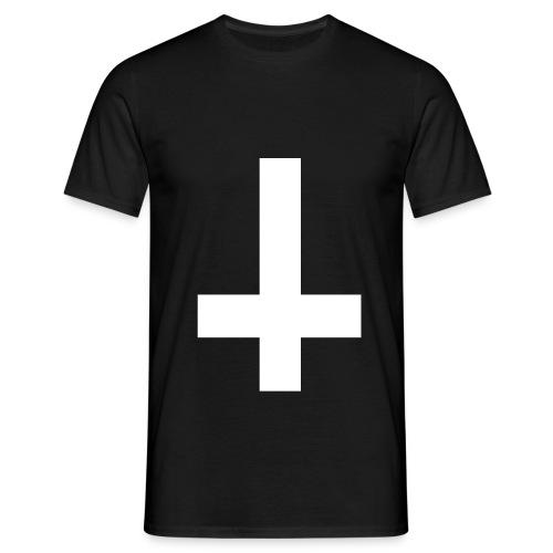 Uppochned vänt kors - T-shirt herr