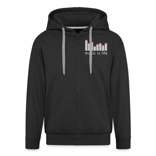Music is life hoodie - Men's Premium Hooded Jacket