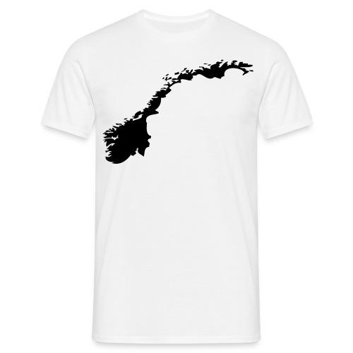 Lært å elske Norge - T-skjorte for menn