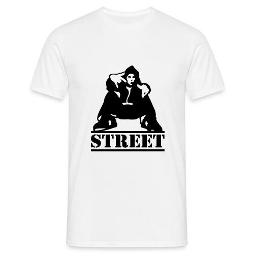 Men's, Street, White, Comfort T - Men's T-Shirt