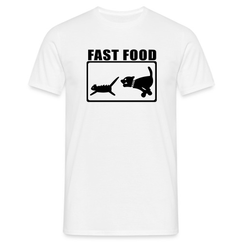 Men's, Fast food, White, Comfort T - Men's T-Shirt