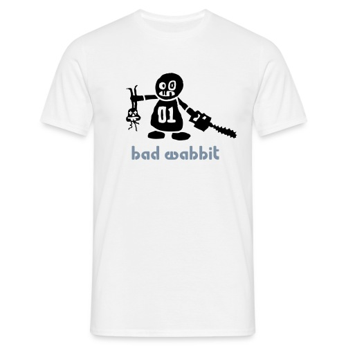 Men's, Bad Wabbit, White, Comfort T  - Men's T-Shirt