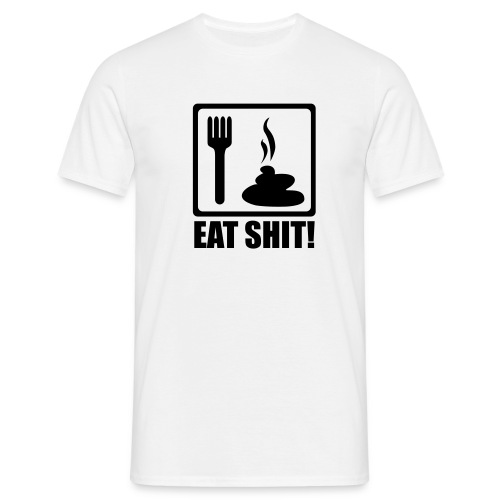 Men's, Literally Eat Shit, White, Comfort T  - Men's T-Shirt
