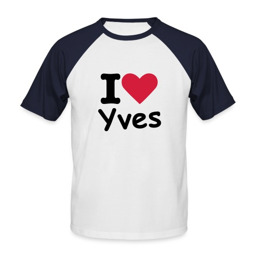Youhou love Yves - T-shirt baseball manches courtes Homme
