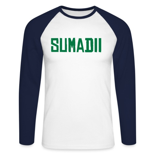 Sumadii top/ black arms - Men's Long Sleeve Baseball T-Shirt