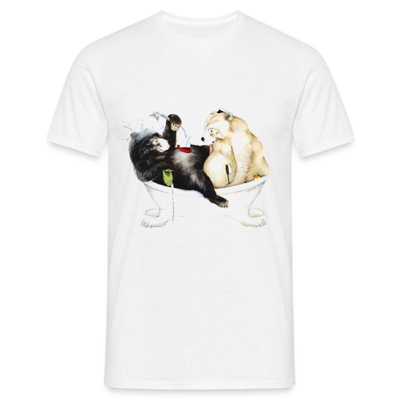 Bären baden - Männer T-Shirt