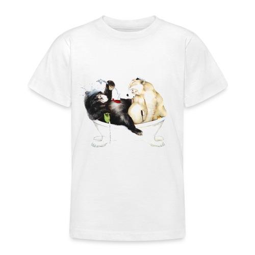 Bären baden - Teenager T-Shirt