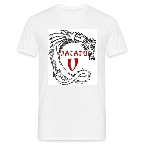 T-Shirt JaCaTu V mit Daten - Männer T-Shirt