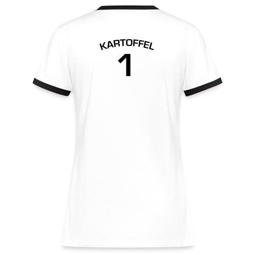 Kartoffel Girlie Trikot Original - Frauen Kontrast-T-Shirt