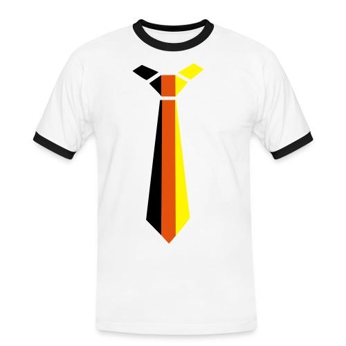 Krawatten-Fan-Shirt - Männer Kontrast-T-Shirt