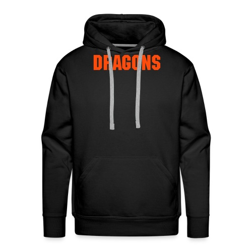 DRAGONS Hooded Black - Mannen Premium hoodie