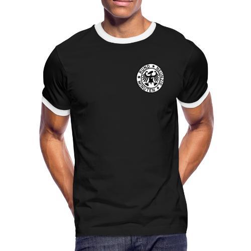 Rund 90 Minuten (schwarz) - Männer Kontrast-T-Shirt