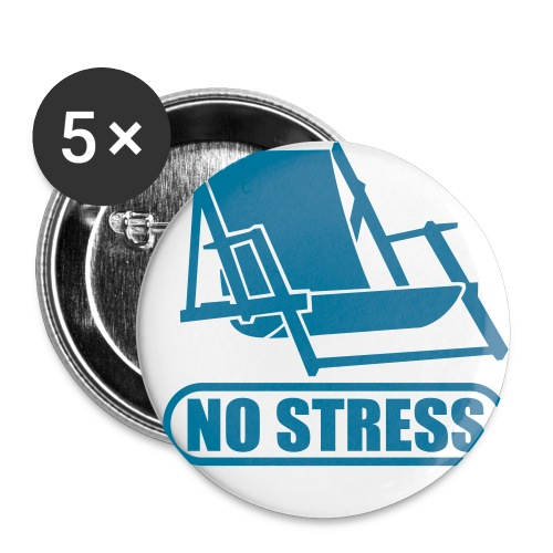 no stress - Buttons/Badges stor, 56 mm (5-pack)