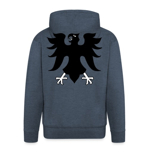 WM/EM - Kaputzenpulli mit Adler - Männer Premium Kapuzenjacke