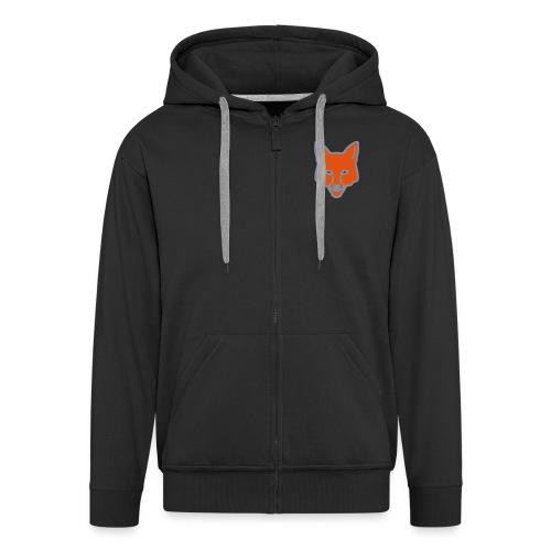 fox g hood (zip) - Men's Premium Hooded Jacket