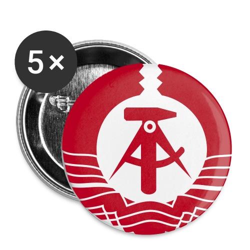 DDR Buttons - Buttons klein 25 mm (5er Pack)