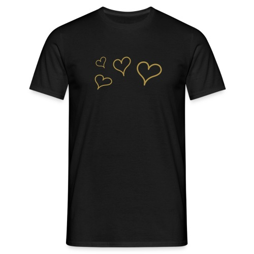 Golden Hearts - T-shirt herr