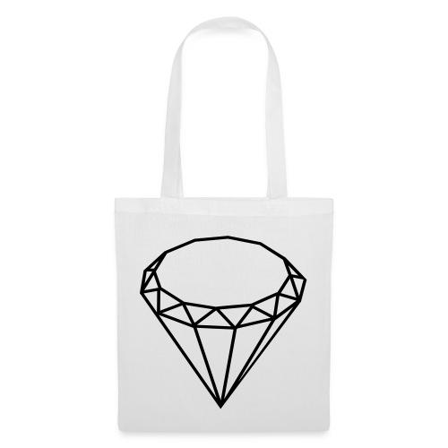 Diamond Tote (White) - EJ by Ethan James - Tote Bag