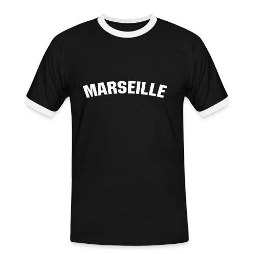 marseillenoir - T-shirt contrasté Homme