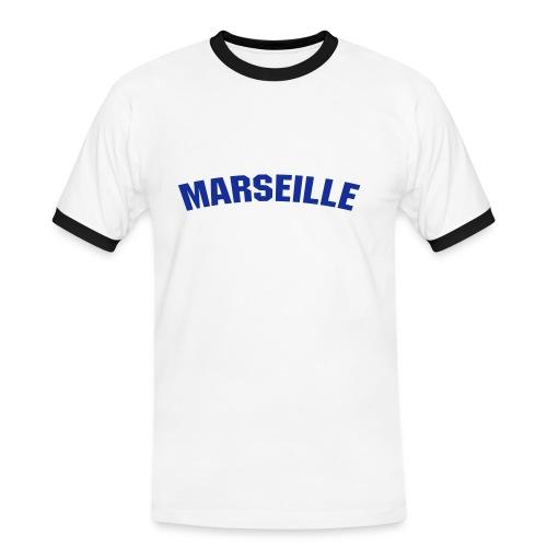 marseilleblanc - T-shirt contrasté Homme