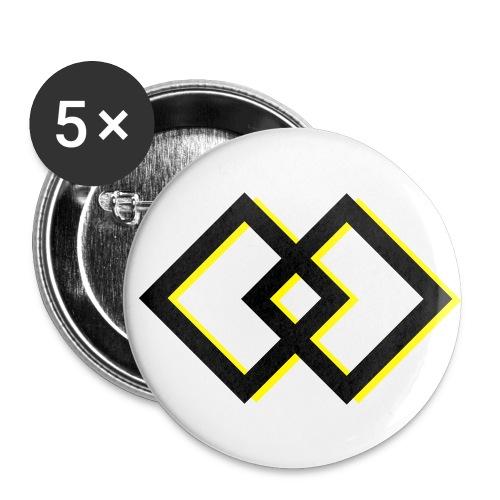 Buttons mittel 32 mm (5er Pack) - Square Dance Symbol