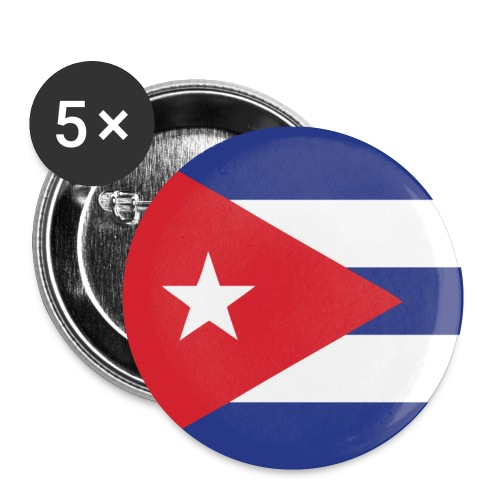 Cuban Flag Badges / Buttons - Buttons small 25 mm