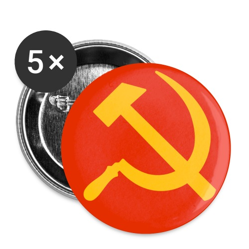Hammer and Sickle Badges / Buttons - Buttons small 25 mm
