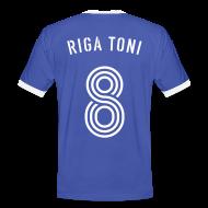 T-Shirts ~ Männer Kontrast-T-Shirt ~ RIGA TONI 8 (Azzurro i Bianco)
