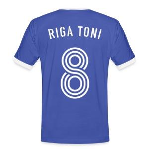 RIGA TONI 8 (Azzurro i Bianco) - Männer Kontrast-T-Shirt