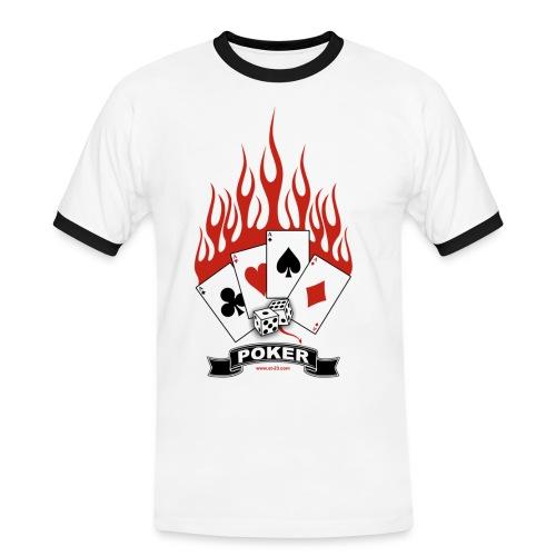 t-shirt Flamme du poker - T-shirt contrasté Homme