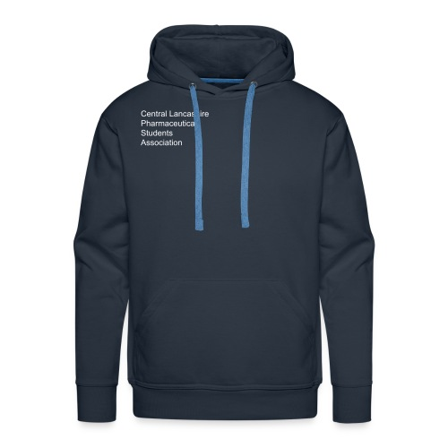 Over, under and behind the counter on Navy  - Men's Premium Hoodie