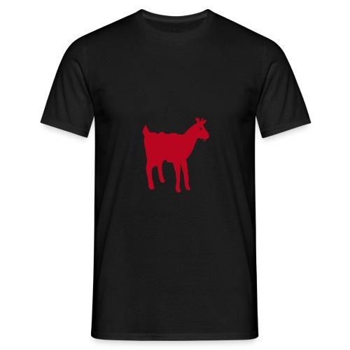 Schwaarzen T-shirt mat der rouder Geess - Männer T-Shirt