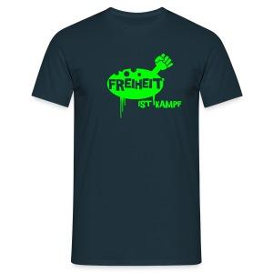Freiheit - green/blue shirt - Männer T-Shirt