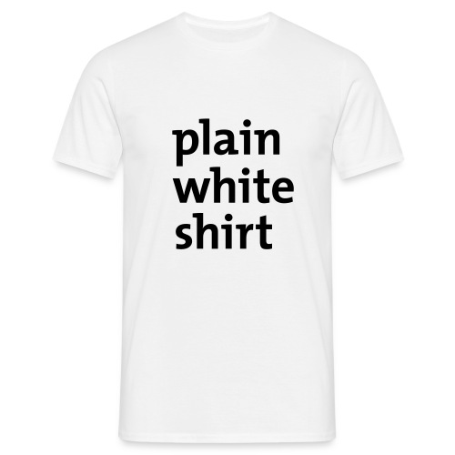 White - T-skjorte for menn