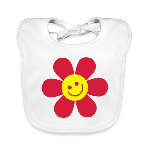 Flower Smile - baby bib - Baby Organic Bib