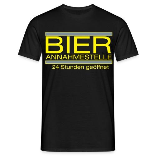 Bier Annahmestelle - Männer T-Shirt