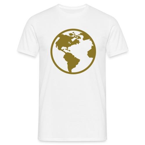 Tee-shirt blanc, H/F ¤ Motif doré - T-shirt Homme