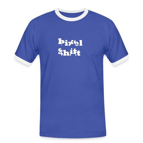 Pixel shift - Kontrast-T-shirt herr