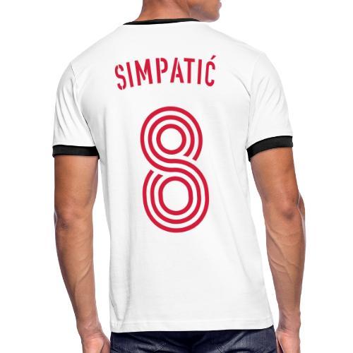 ZLADKO SIMPATIC 8 - Männer Kontrast-T-Shirt